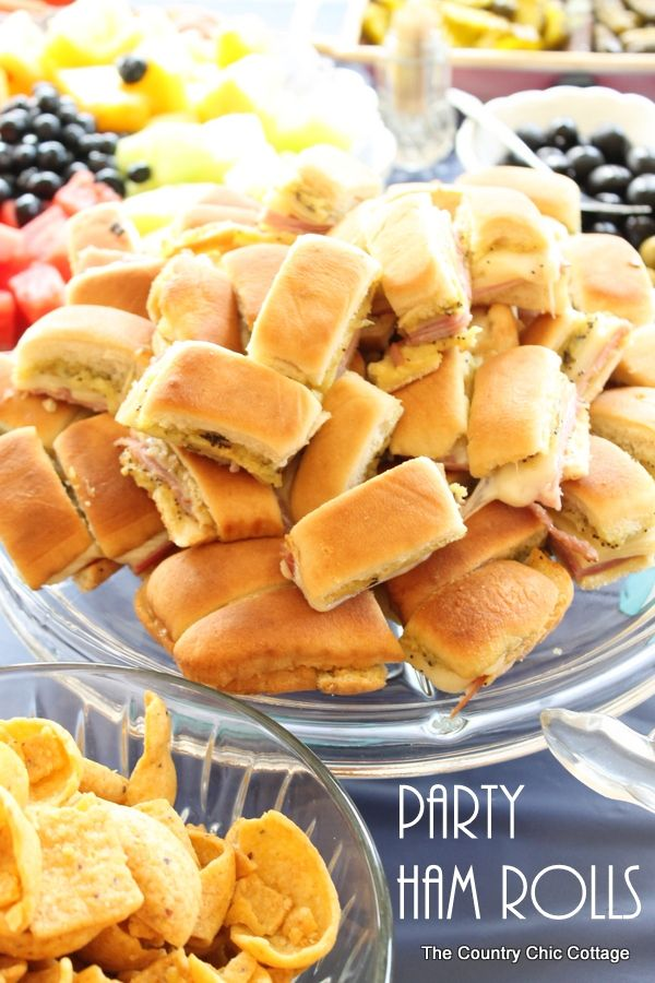A great recipe for party ham rolls!