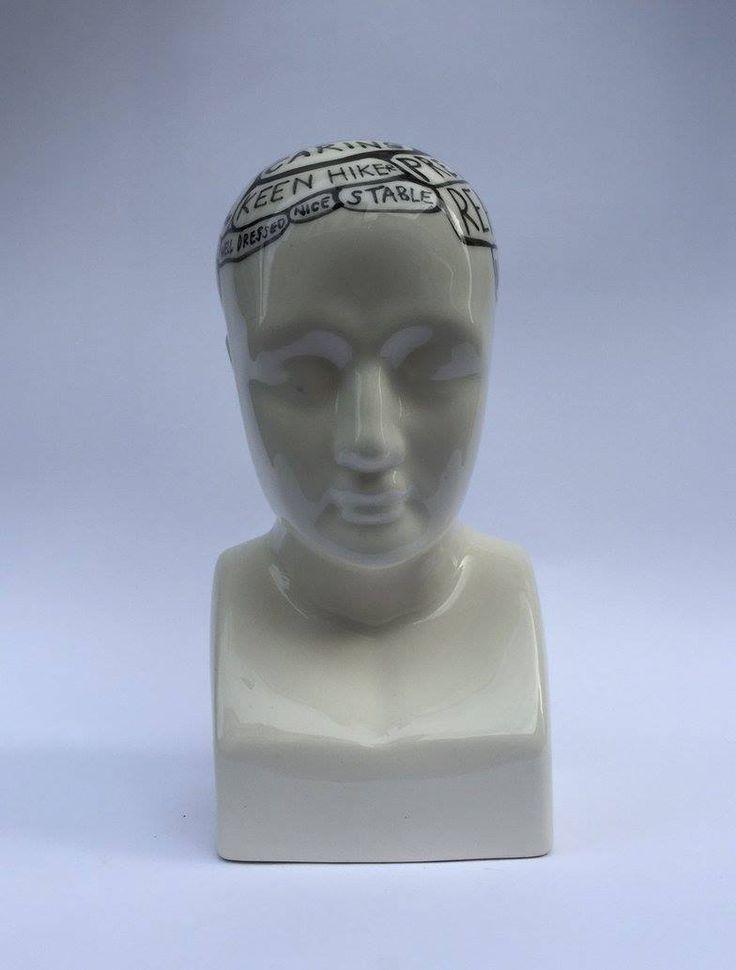 Michael Chandler  Zodiac Phrenologies Capricorn Hand Painted Glazed Ceramic  R 1 800
