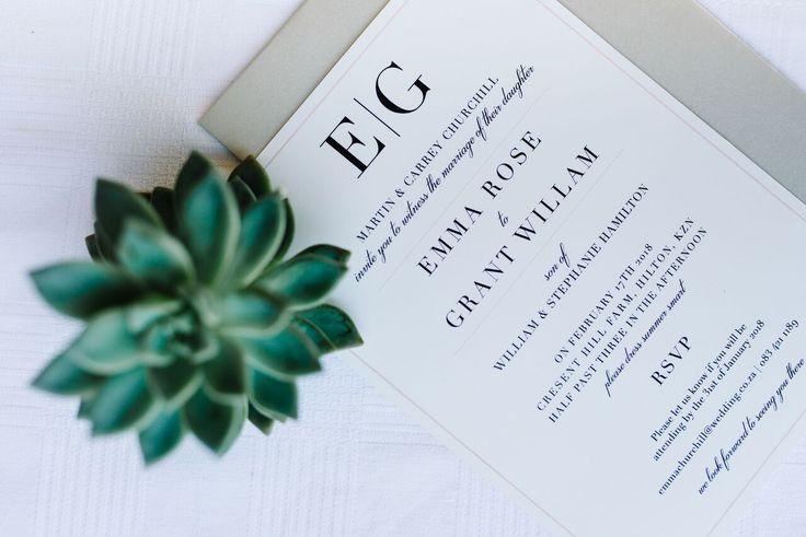 Succulent wedding invitation