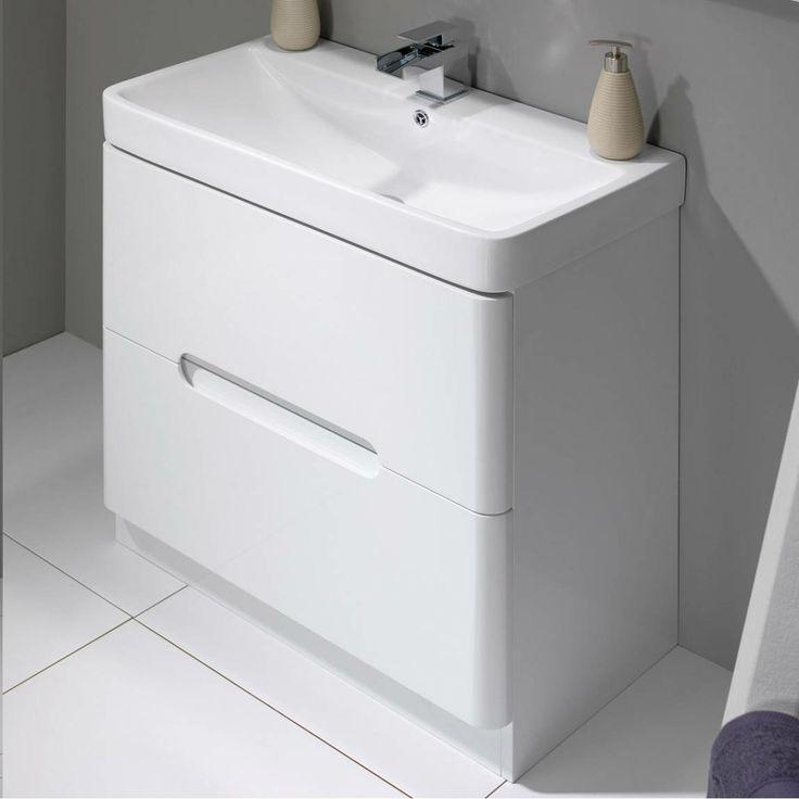 Wonderful Sienna Milo White Gloss Combination Vanity Unit Small  Now 199 Www