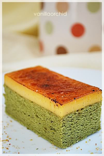 Creme Brulee Green Tea Chiffon Cake!!!!  YUM:)  Matcha Green Tea