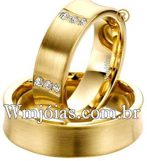 Alianças de casamento lindas