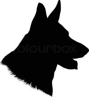 German Shepherd Head Silhouette