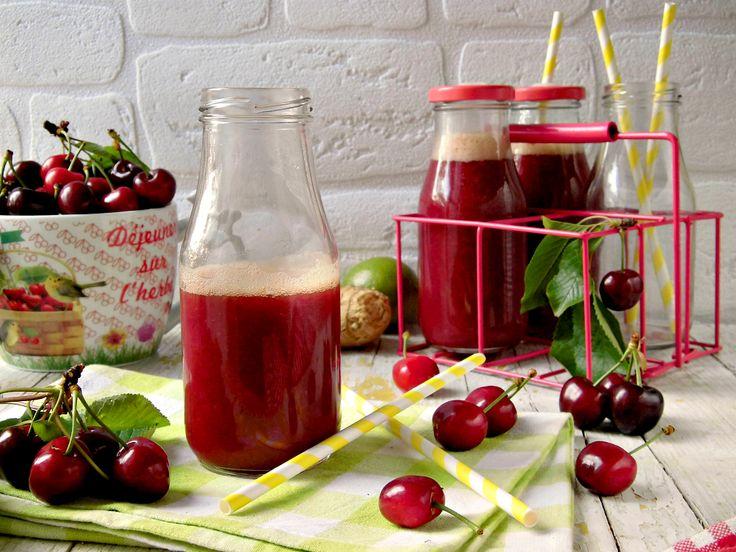 Succo energizzante di ciliegie