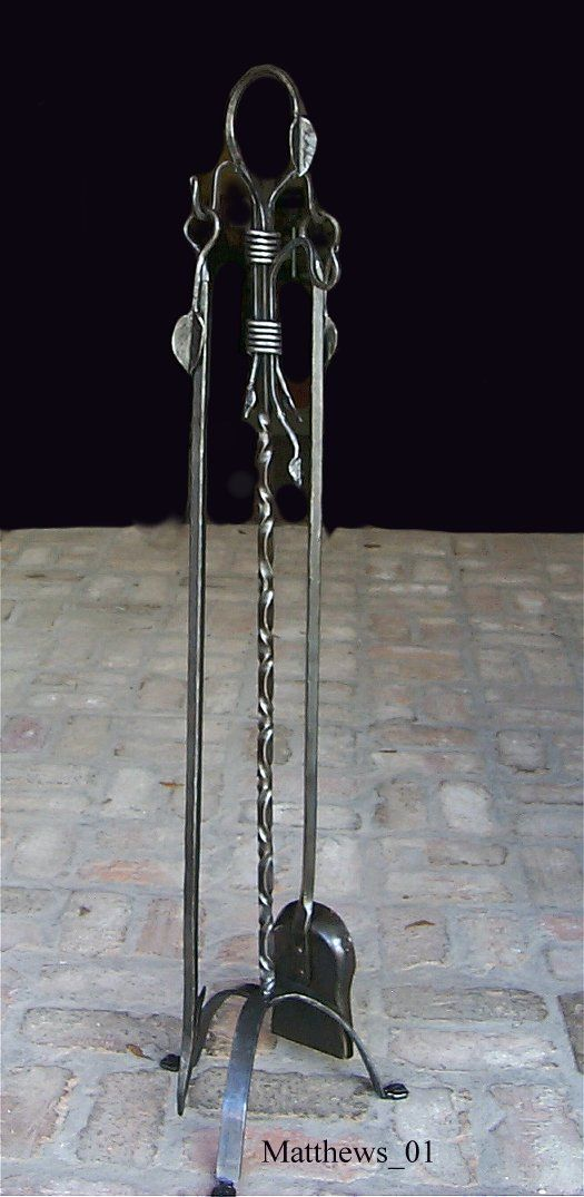 George Matthews, Artist/Blacksmith - Fireplace Tools And Tool Stands