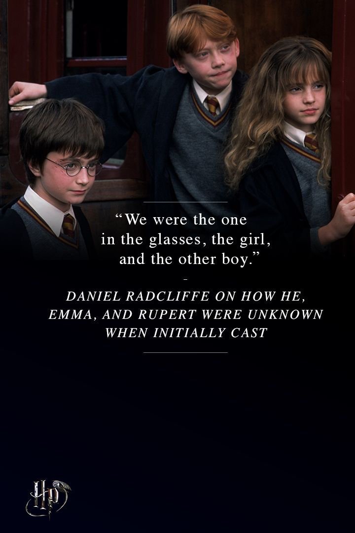 Daniel Radcliffe on how he, Emma, and Rupert were unknown when initially cast.