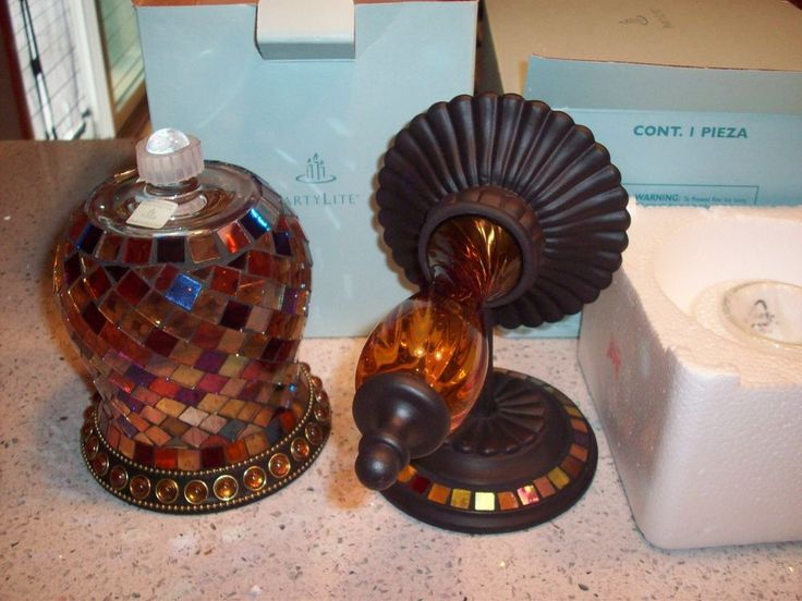 Party Lite Global Fusion Sconce and Peglite, New in Boxes, RARE