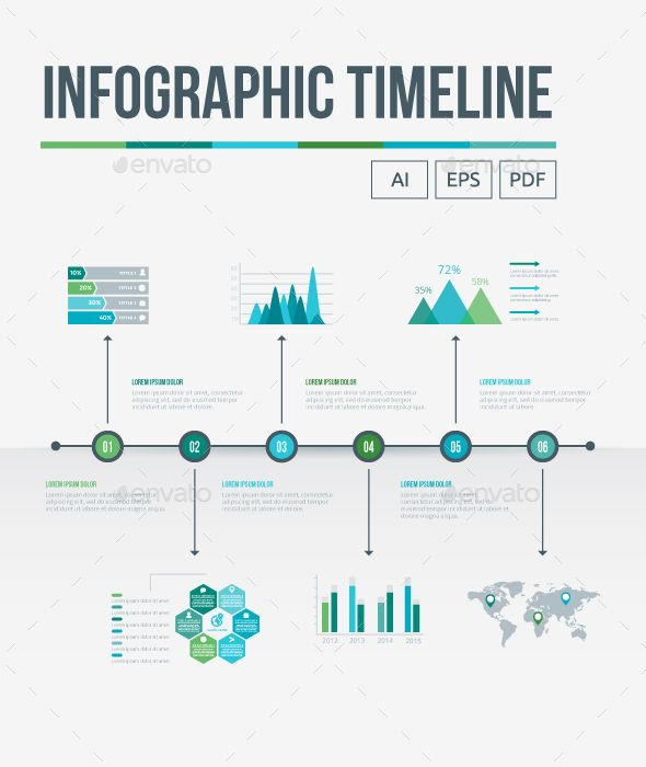 infographic timeline template vector eps  ai illustrator
