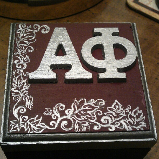 cute craft ~ silver and bordeaux pin box!