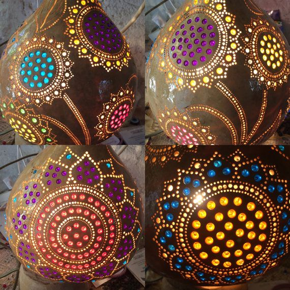 Gourd lamp by MagicalGourd on Etsy