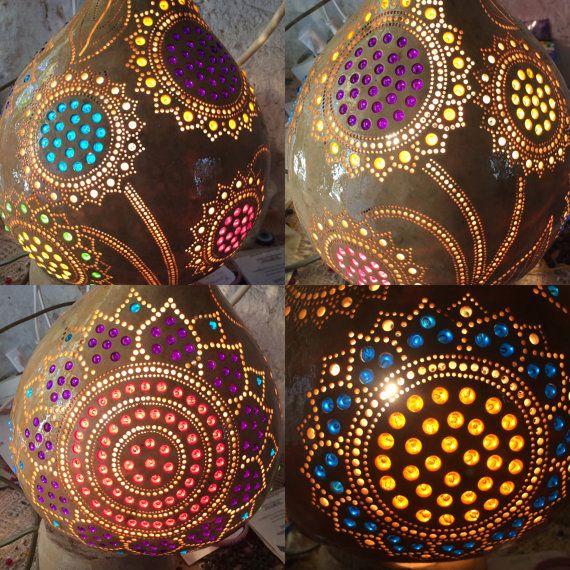 Lámpara de calabaza por MagicalGourd en Etsy