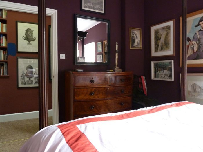 farrow ball brinjal via ben pentreath color lavendar  best bedroom wall colour combinations
