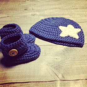 Angels handmade with love: Baby Booties haakpatroon! Gehaakte slofjes, schoentjes, uggs met bijpassende muts
