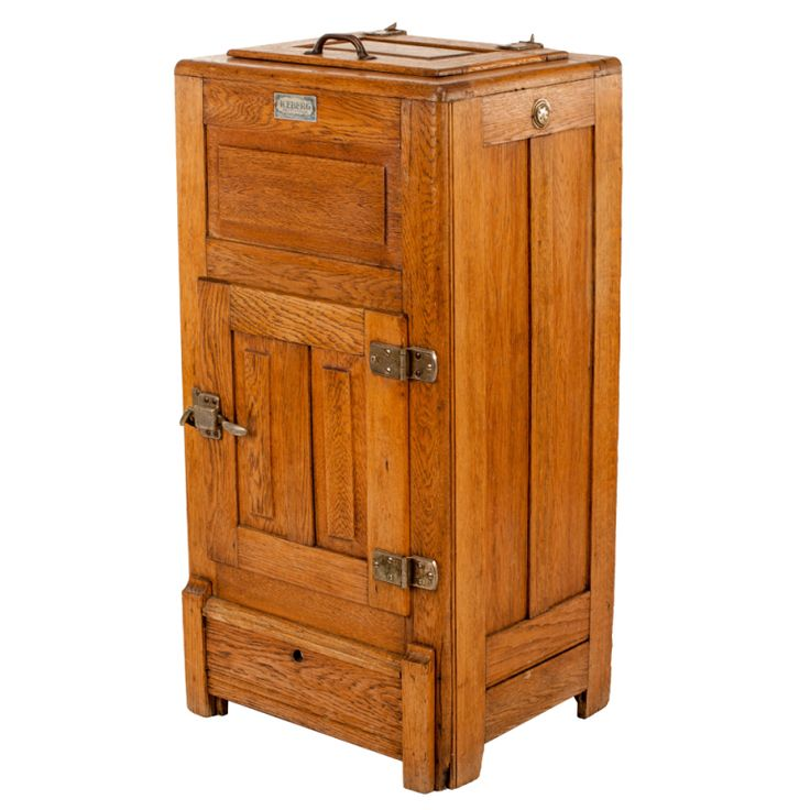 Breakfront Furniture /Oak at the turn of the twentieth century | Antique Mission Oak Icebox