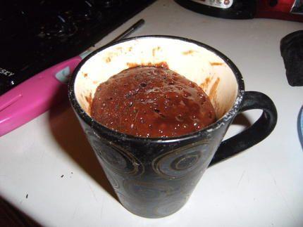 recette Mug de brownies fondant au micro ondes (une merveille)