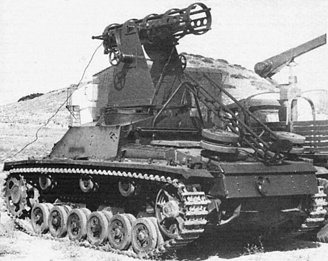 Post-war Spanish project of rocket-launcher system mounted on top of a StuG 40