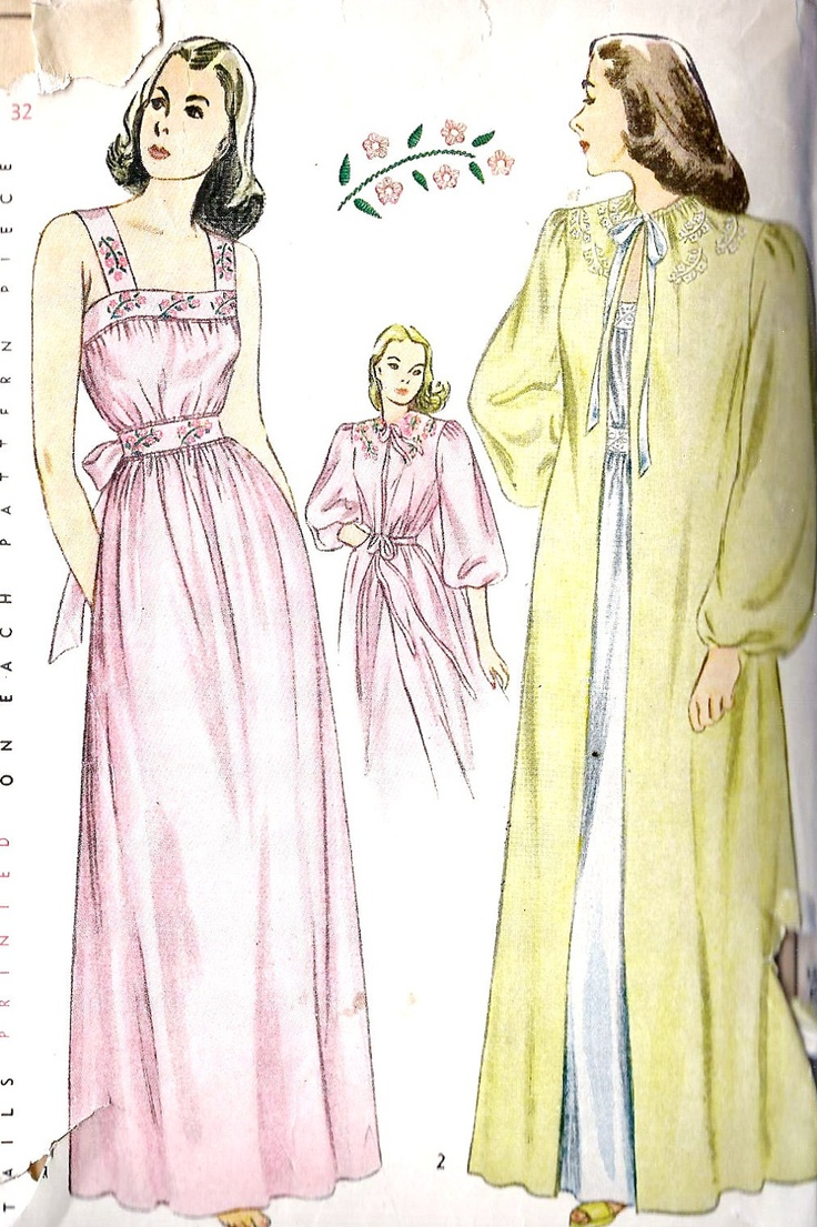 20 Best Images About Sew Robes Slips On Pinterest 34 Sewing Patterns And Smoking Jacket