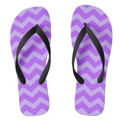 Lilac Chevron stripes Flip Flops - cyo customize create your own #personalize diy