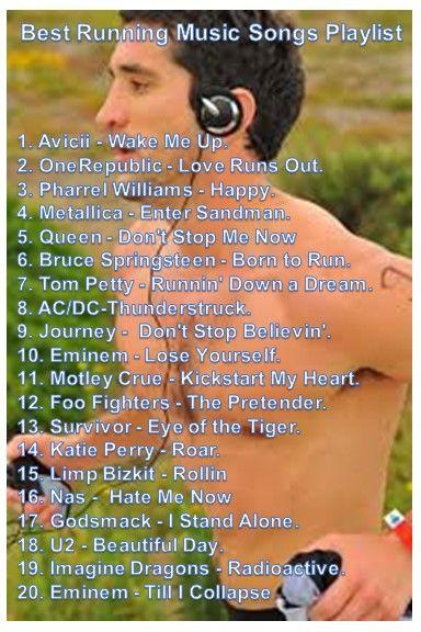 Best Running Songs Playlist http://www.runningmadeasy.com/best-running-music/best-running-songs-playlist/