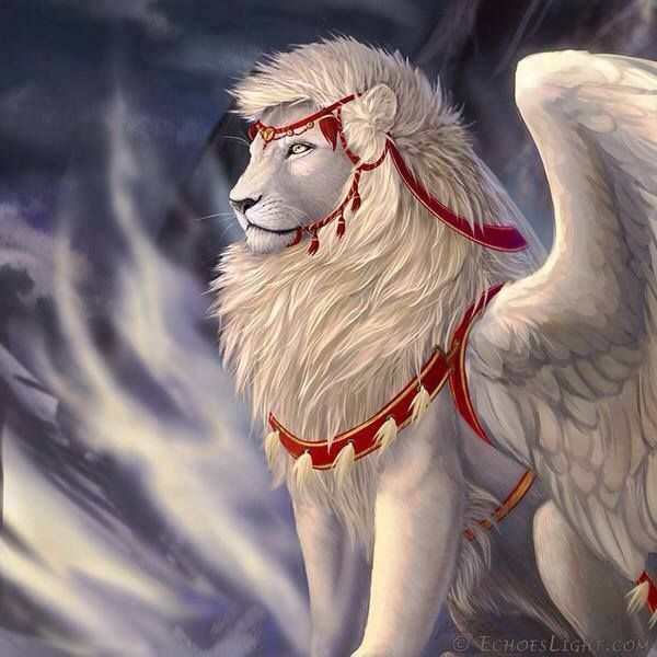 """Gryphon (No, not a gryphon... gryphons have the head of an eagle.  If this mythic creature had a name- I believe it might be """"Flion"""") Not a manticore, manticores have human faces."""
