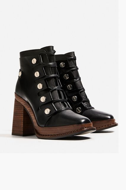 Zara did it again. The wooden sole brings these boots to a new level.Zara Leather High Heel Ankle Boots with Wooden Sole, $179, available at Zara. #refinery29 http://www.refinery29.com/best-womens-ankle-boots#slide-4