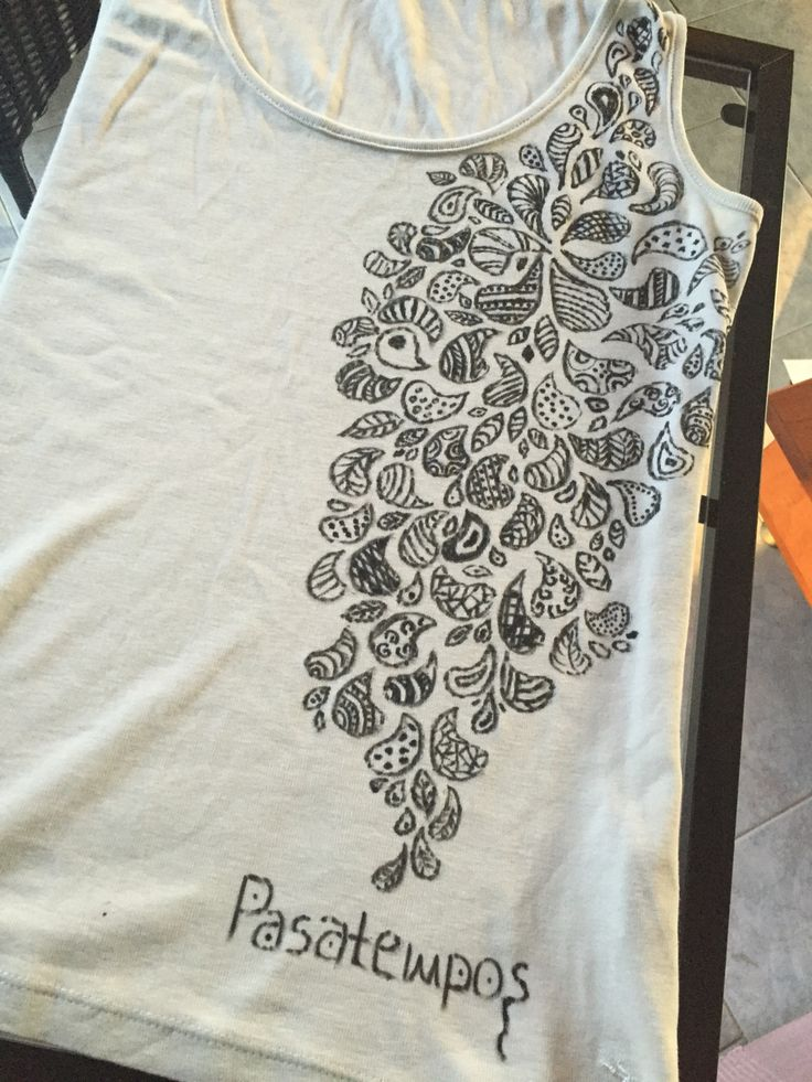 Pasatempos art!!!!! Doodling in a tshirt!!!!