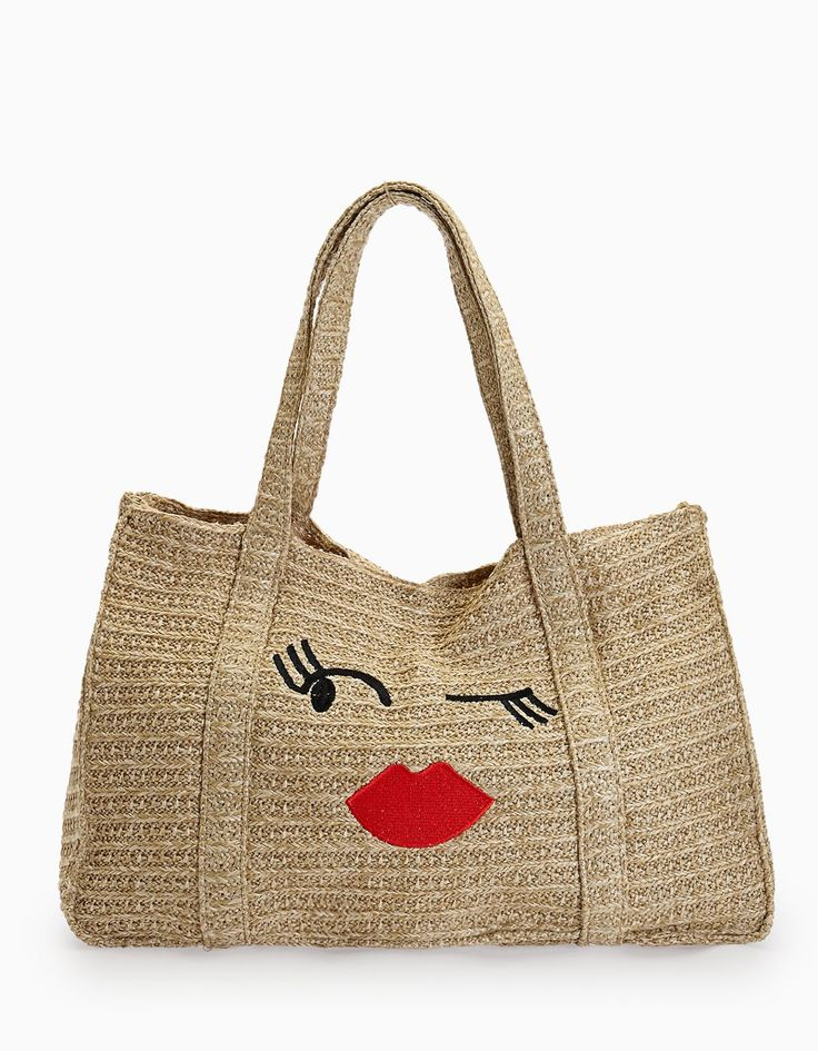 Raffia tote bag - Just in | Stradivarius Thailand