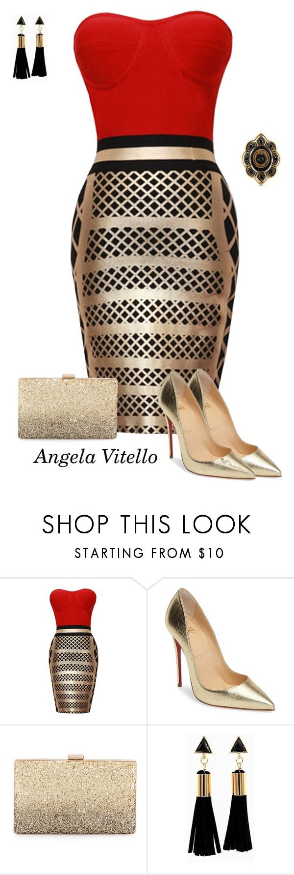 """Untitled #911"" by angela-vitello ❤ liked on Polyvore featuring Christian Louboutin, Neiman Marcus and Gucci"