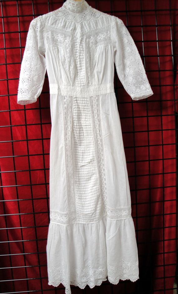 Beautiful Antique Wedding Dress Early 20th by TheLostHopeChest