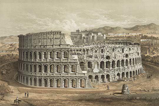 """Size A2 Reproduction Vintage Italian /""""Visit Rome/"""" Poster Home Wall Art"""