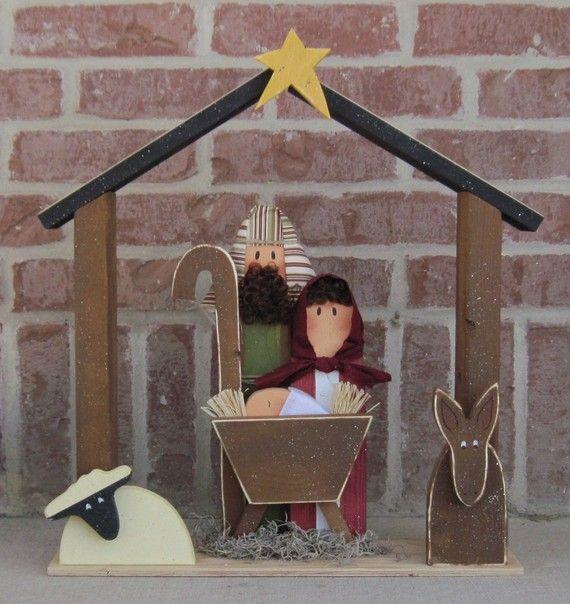 GRAN Belén en Navidad vacaciones Noel niño Jesús burro por lisabees