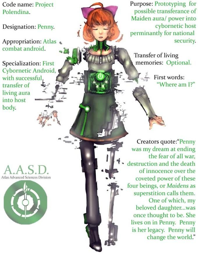 RWBY Penny - that's an interesting theory of cyborgs being used to host the seasonal maidens