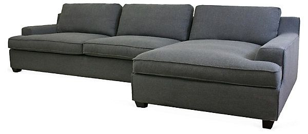 One Kings Lane - Sit Right Down - Kaspar Sectional Sofa, Charcoal  I need this!!!