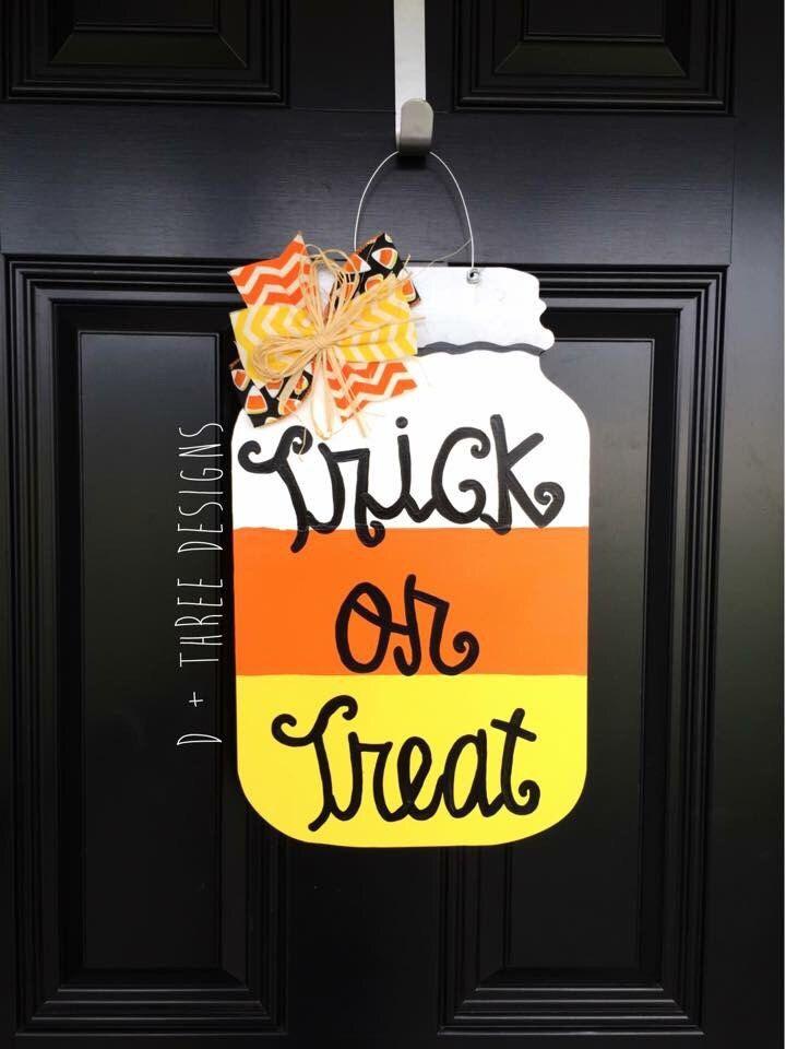 Fall Mason Jar Door Hanger // Fall Wreath // Painted Wooden Fall Wreath // Wooden Door Hanger // You Pick The Words by DPlusThreeDesigns on Etsy https://www.etsy.com/listing/249597698/fall-mason-jar-door-hanger-fall-wreath