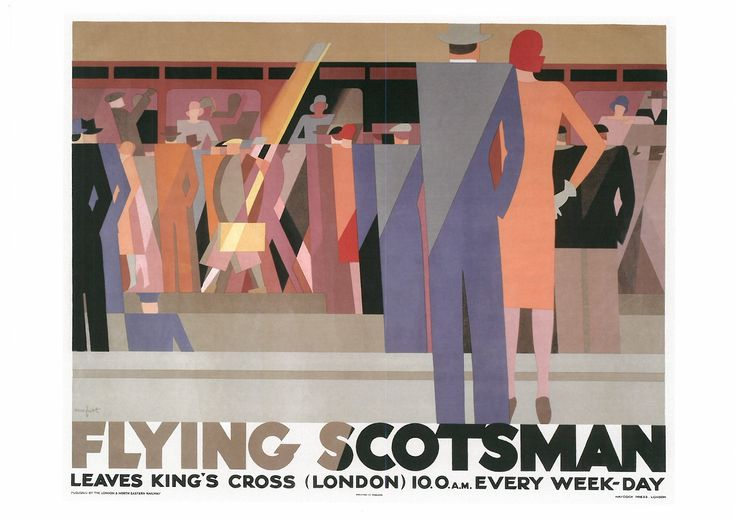 172. LEO MARFURT (1894-1977) Flying Scotsman. Leaves King's Cross (London) 10.0 a.m. every week-day (Fiying Scotsm0r1. Sale de King's Cross (Londres) 10.00 a.m. todos los días}, 1937