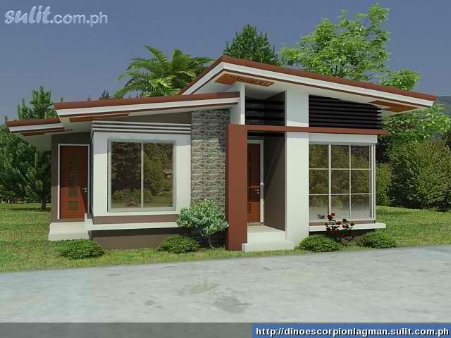 Hillside and view lot modern home plans we construct a model house design in your own lot 2 Modern small bungalow designs