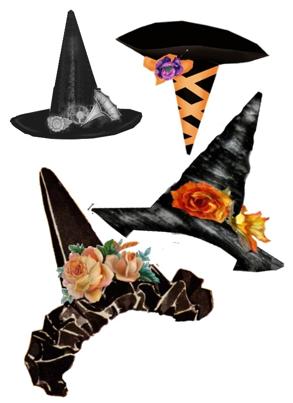 Witch hats - add to photos, graphics etc.