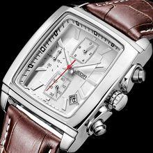 Jedir wojskowi zegarki sportowe 2017 top marka luksusowe mężczyzna zegar mężczyźni skórzane armia kwarcowy chronograf-zegarek relogio masculino(China (Mainland))