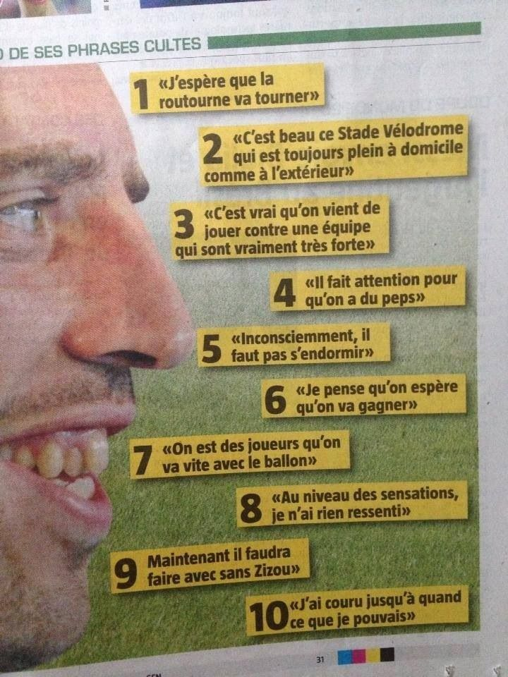 Ribery phrases cultes
