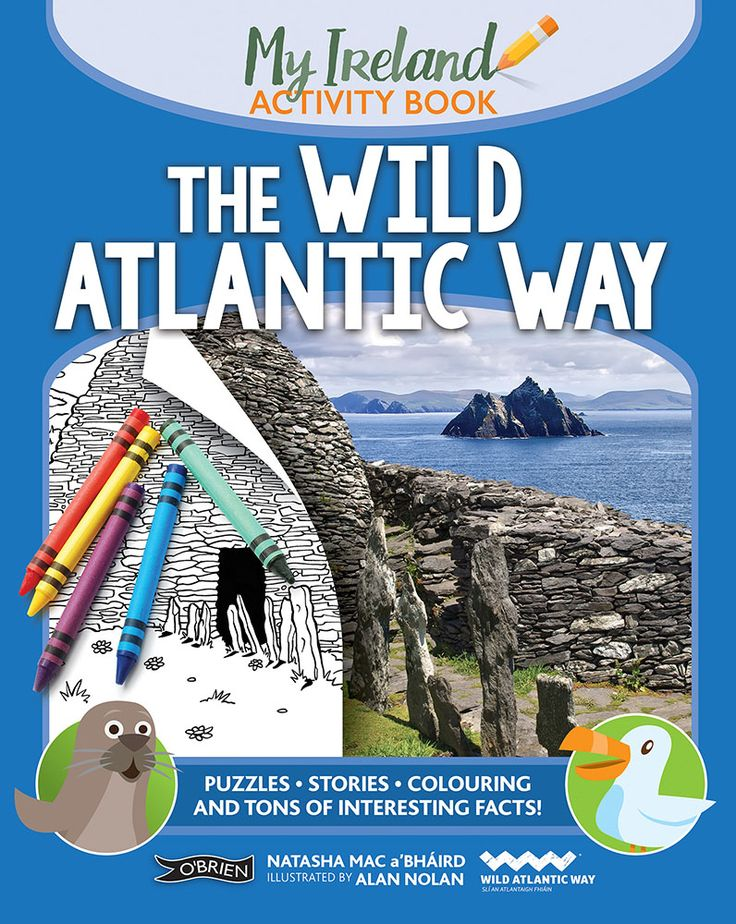 A bright and fun-filled activity book set on the Ireland's Wild Atlantic Way. Puzzles, games, colouring, stories and tons of interesting facts.