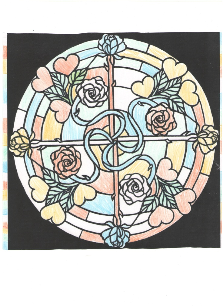 Gwen E. (Under 12 division) from Hearts and Roses Stained Glass Coloring Book: http://store.doverpublications.com/0486470237.html