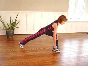 One-Arm Dumbbell Rows: for strengthing shoulders, arms, & back