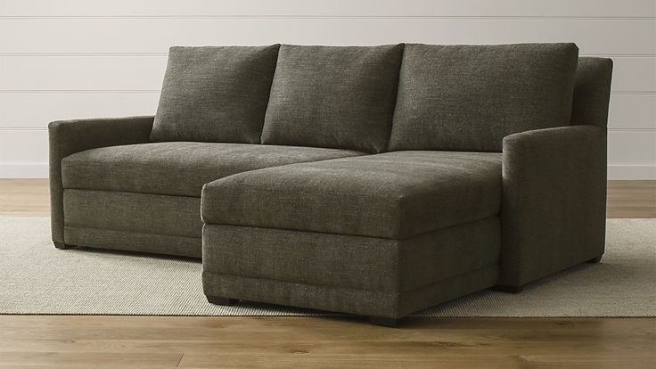 Reston 2-Piece Sleeper Sectional Sofa | Crate and Barrel