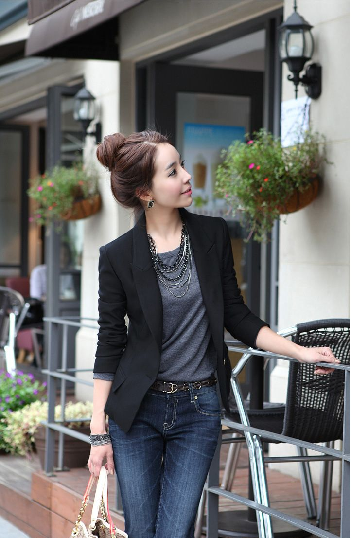 Traje de las mujeres de moda del, adelgaza un botón de la chaqueta, más tamaño chaqueta,   Precio: $75.700 Talla: S,M,L,XL