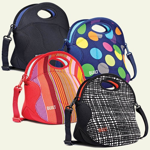 Adult Lunch Box. Ideal for air travel, car trips or everyday lunch at work, this insulated tote comes in 4 fun patterns and prints!