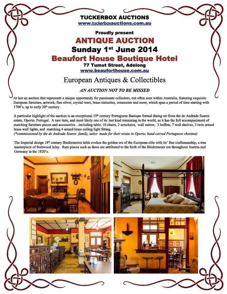 Beaufort House in Adelong, NSW - ANTIQUE AUCTION Sunday June 1st 2014