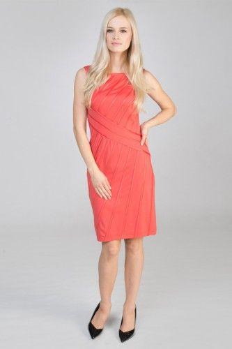 6L573M sukienka wizytowa pomarańczowa #casualdress #orangedress #mididress