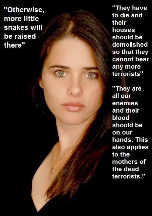 ayelet shaked -- ISRAEL'S NEW 'JUSTICE' MINISTER #VILE