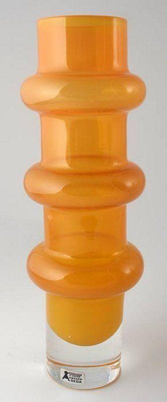 Art Glass Vase, Bo Borgstrom, Aseda, Sweden