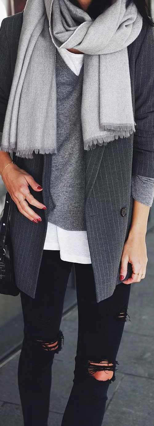 Layers of grey